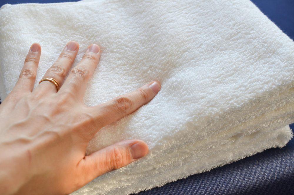 ロングパイルでまさにホテルのタオルのような肌触りです。