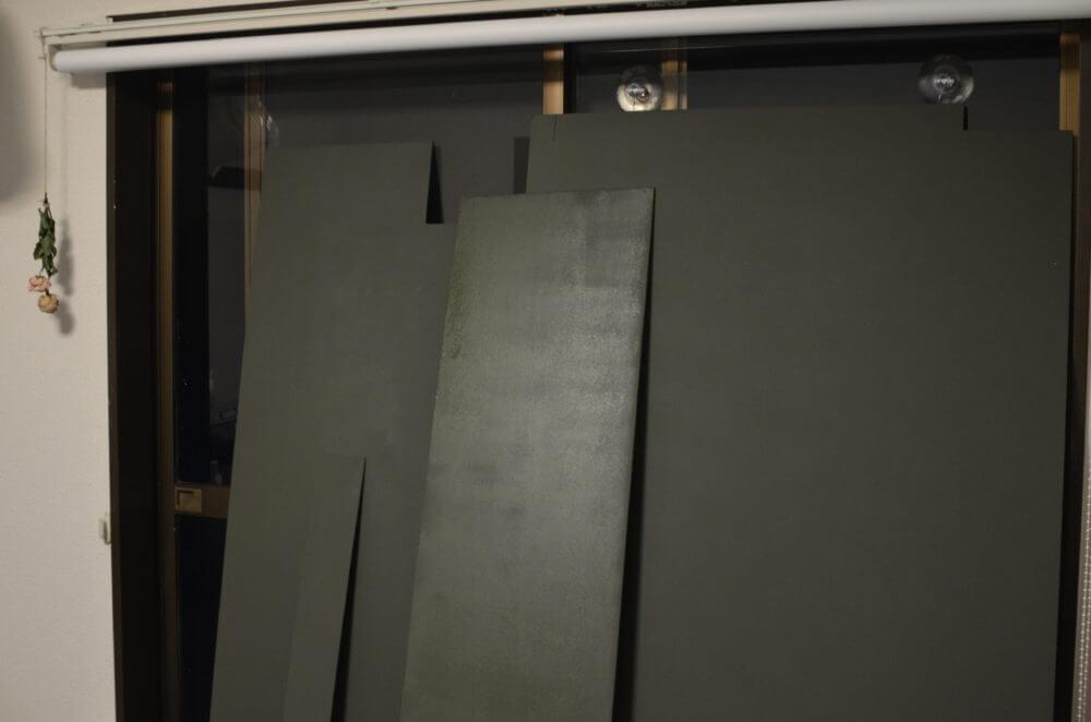 黒板塗料を2度塗りして乾かす。