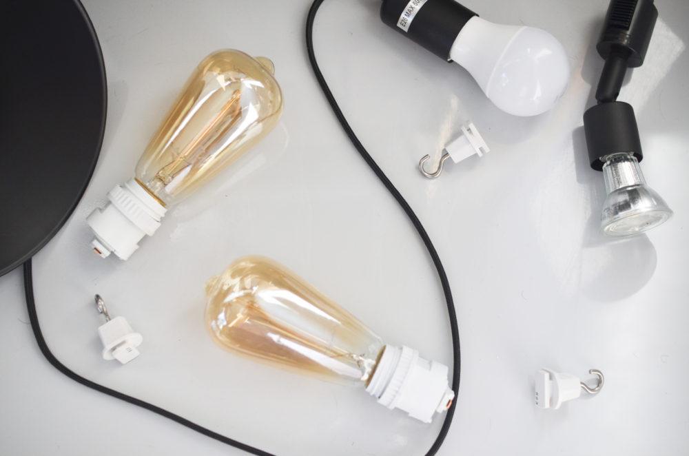ダクトレールにつける照明器具色々。
