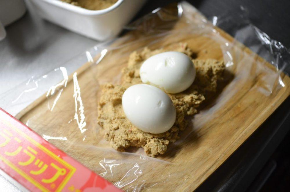 ゆで卵のぬか漬け。