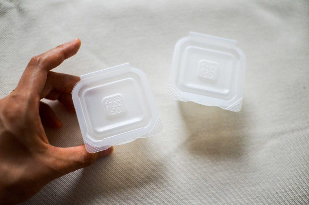 小分けタイプの離乳食冷凍保存容器。