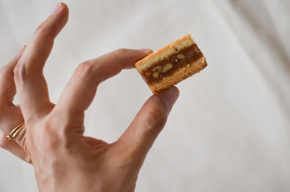 くるみとキャラメルのクッキー。