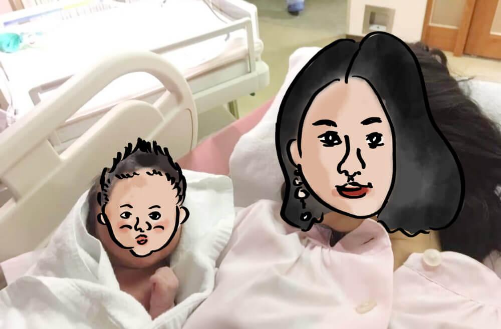 赤ちゃんを抱かせてもらうも放心しているだっこ。