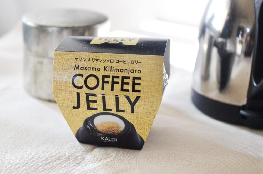 カルディのコーヒーゼリーのパッケージ。
