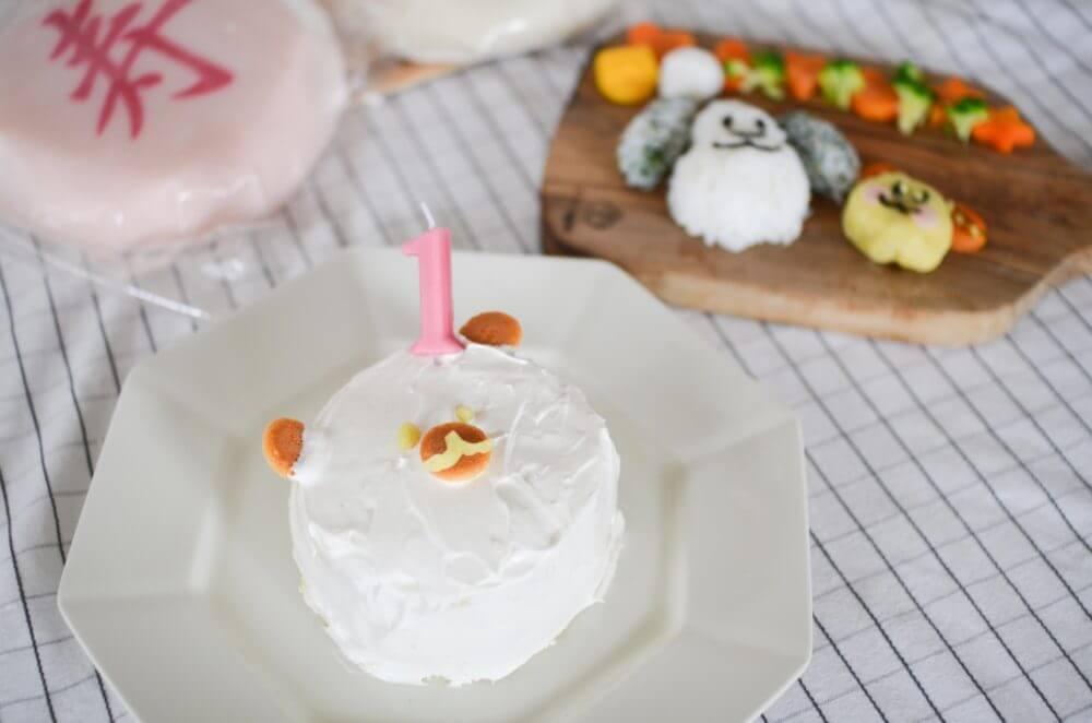 ピジョンの「1才からのレンジでケーキセット」で作ったくまさんのケーキ