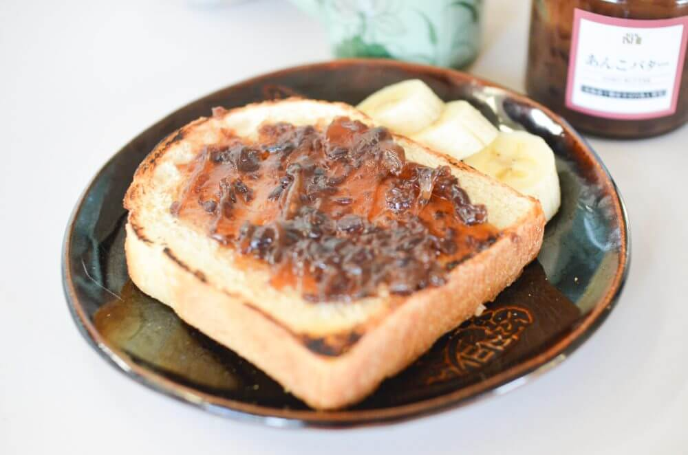 食パンに塗った成城石井の「あんバター」