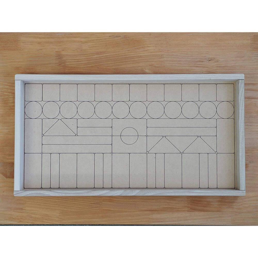 ニチガンの積み木「12colors blocks」60ピースのお片づけシート